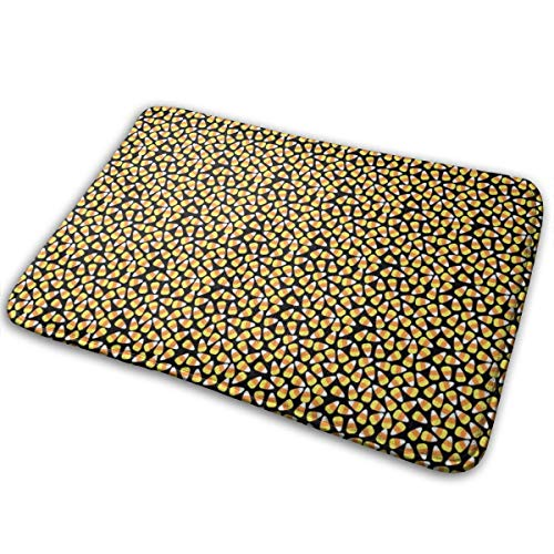 Halloween Candy Corn_95,Colourful Easy Clean PVC Non Slip Backing Entry Way Doormat for Patio, Front,16x24in Weather Exterior Doors. ()