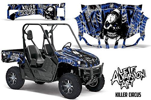 Savage Kits Vinyl Graphic Decal Kit for UTV Yamaha Rhino 700/660/450 - Killer Circus Blue