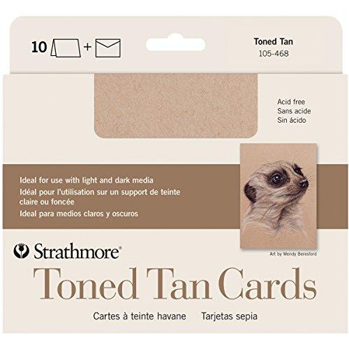"""Brand New Strathmore Cards & Envelopes 5""""X6.875"""" 10/Pkg-Toned Tan Brand New"""