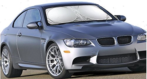 Car Windshield Sun Shade - Blocks UV Rays Sun Visor Protector, Sunshade to Keep Your Vehicle Cool and Damage Free, Easy to Use, Fits Windshields of Various Sizes (Standard 59 ()