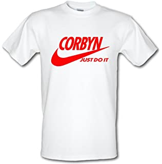 04b419d8f CORBYN JUST DO IT VOTE LABOUR General Election Jeremy Corbyn Heavy Cotton  t-shirt ALL