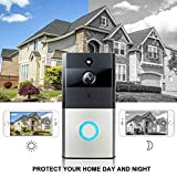 WiFi Smart Doorbell, KOBWA Wireless Video Doorbell 720P HD WiFi Camera Real-Time Video Two-Way Audio Night Vision Motion Detection Burglar Reminder App iOS, Android, Windows