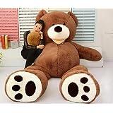 Huge Jumbo HugFun 93 Teddy Bear 8 Foot Stuffed Plush Animal Toy Gigantic Large--Dark Brown by Ubest