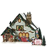 Department 56 Snow Village The Elf House Lit Building