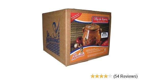 Amazon.com: La Mexicana Olla De Barro Pot, 6-Quart: Mexican Clay Pots: Kitchen & Dining
