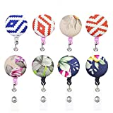 Badge Holder, luushopp Reel Retractable Badge Reel with Clip and Extra-Long 36 inch Standard Duty Cord
