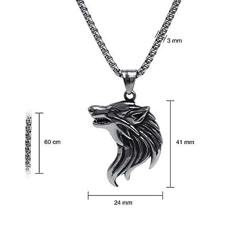 Amazon Com Mayanyan Wolf Head Amulet Titanium Steel Pendant