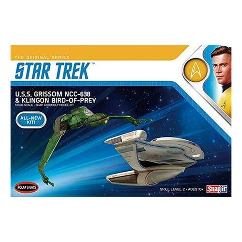 (1/1000 Star Trek U.S.S. Grissom and Klingon Bird Of Prey Plastic Model Kit)