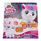 PETS ALIVE Boppi The Booty Shakin Llama Battery-Powered Dancing Robotic Toy by Zuru, White