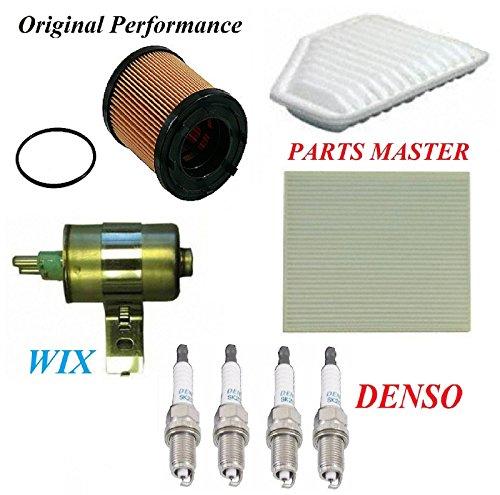 8USAUTO Tune Up Kit Air Cabin Oil Fuel Filters Spark Plug Fit PONTIAC G5 L4; 2.4L 2007-2008