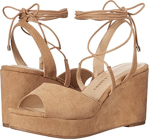 Chinese Laundry Womens Cindy Open Toe Casual, Camel Microsuede, Size 5.5