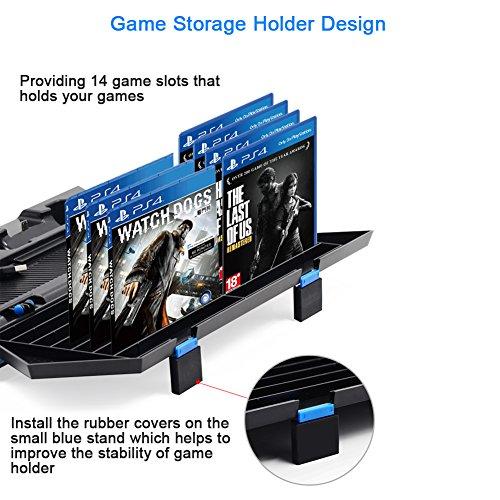 Consoles Kootek Vertical Stand For Ps4 Slim Regular