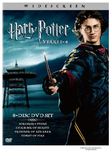 Harry Potter: Years 1-4 (Harry Potter and the Sorcerer's Stone / Chamber of Secrets / Prisoner of Azkaban / Goblet of Fire) by Warner Manufacturing