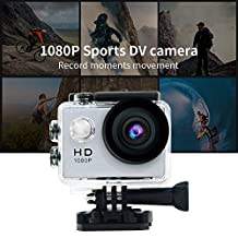Mini Sports HD Action Camera DV A9 1080P 30M Waterproof Underwater Camera 120°Wide-angle Lens H.264 Helmet Cam (silver)