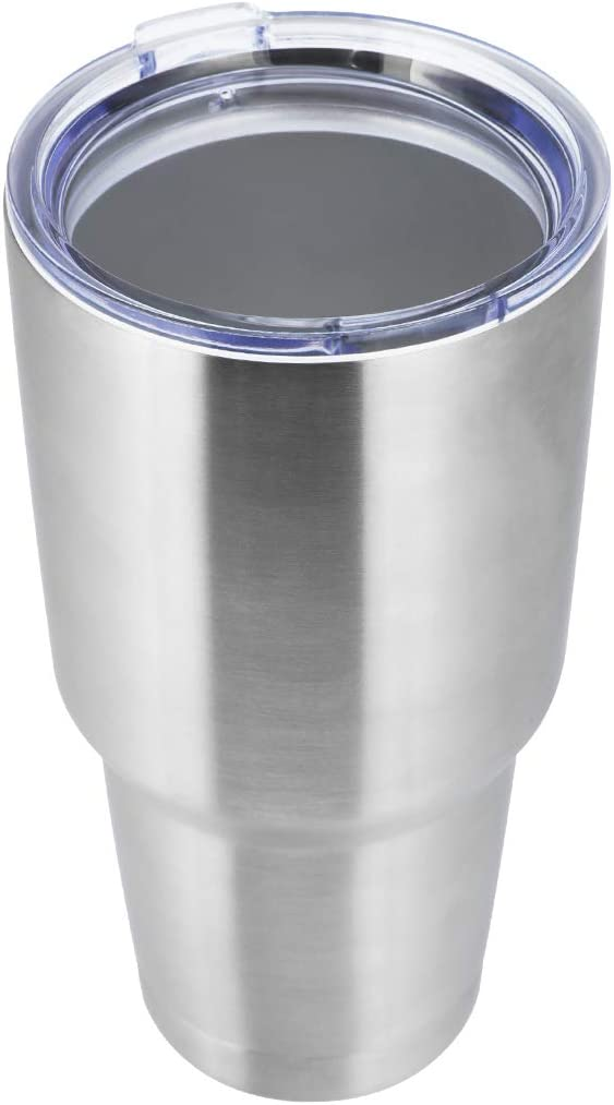 MASVIS 30 oz Stainless Steel Vacuum Insulated Tumbler Double Wall Travel Mug for Cold & Hot Drinks(Silver,1 Pack)