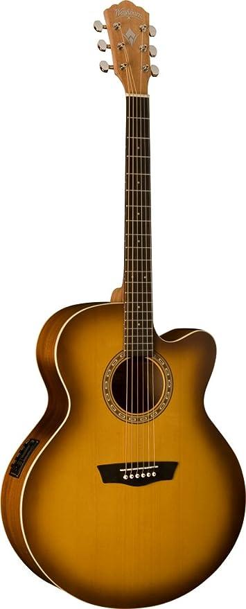 Washburn WJ7SCEATBM nave Jumbo guitarra Dreadnought: Amazon.es ...