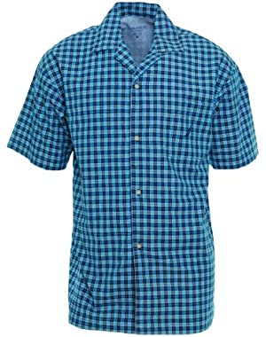 Sleepwear Mens Button Down Pajama Shirt Small Breezy Blue!