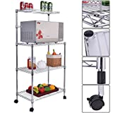 Giantex 3-Tier Kitchen Baker's Rack Microwave Oven Stand Storage Cart Workstation Shelf