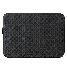 Evecase Black Neoprene Universal Sleeve Zipper Case Bag for HP 15~ 15.6 inch Ultrabook Laptop Such as HP 15-R018DX