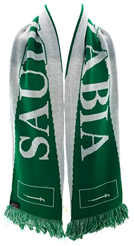 RUFFNECK National Soccer Team Saudi Arabia Scarf, Green, One Size