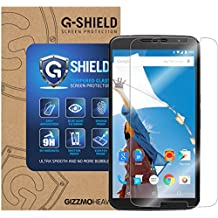 GizzmoHeaven Motorola Google Nexus 6 G-Shield Tempered Glass Screen Protector Anti Scratch Ultra Clear 9H Hardness 0.33mm