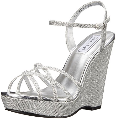 Touch Ups Women's Jaden Wedge Sandal, Silver, 5.5 M US