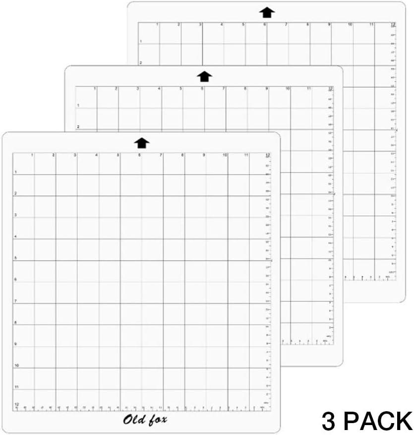 KISSION Alfombrilla Adhesiva Transparente De Repuesto para Tapete De Corte De 3 Piezas con Rejilla De Medición De 12 por 12 Pulgadas para La Máquina De Trazadora Silhouette Cameo: Amazon.es: Hogar
