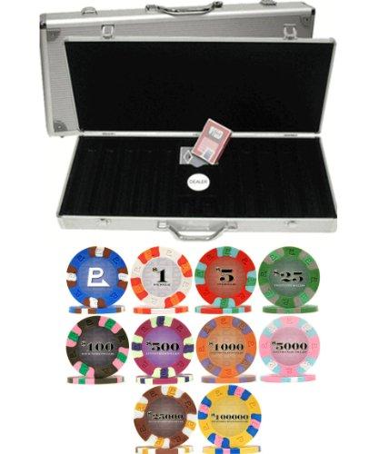NEXGEN PRO Classic 9gm 500 Chip Poker Set with Aluminum Case ()