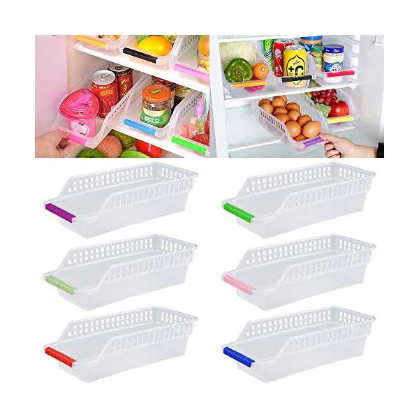 51GFX77UV6L Kühlschrank Organizer, JRing Kühlschrankbox 6 Stück Kühlschrank Container Aufbewahrungsbox Schubladen Pantry Lagerung…