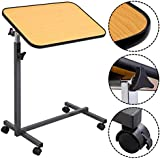 MedMobile Tilt Top Overbed Table with Laminated Tall Edged Table Top