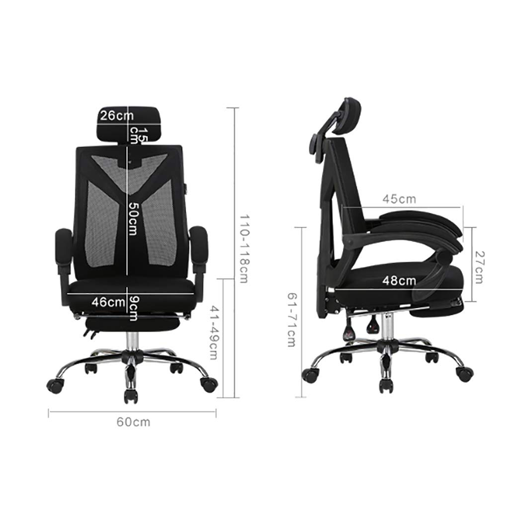 Skrivbordsstolar datorstol hem spelstol spelstol ryggstöd säte svängbar stol bekväm stillasittande vilande kontorsstol tv-spel stolar (färg: E) D