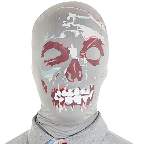 Red And White Morphsuit (Morphsuits Morphmask Premium Zombie, Black/White/Red, One Size)