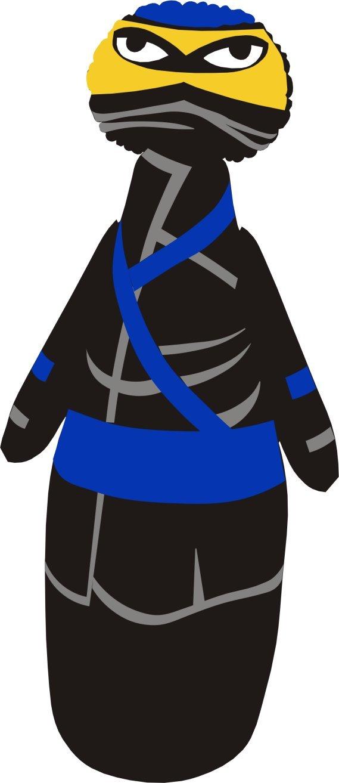 【ギフト】 - Ninja 47インチ - 3D - ボップバッグ/ 子供用パンチバッグ -/ Ninja 膨らませるバッグ/ ブッパーパワーバッグ - 砂入りベース付きプレミアムビニール B07DPDF1BY, フジハシムラ:b6982c1f --- a0267596.xsph.ru