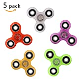 Fidget Spinner Glow In The Dark 5 Pack Stress Relief Toys for Adults Kids Autism Fidgets EDC ADHD Anxiety Hand Spinner Focus Fidgeting Restless Tri-spinner