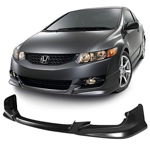 09-11 Civic 2DR HF-P Style Urethane Front Bumper Lip Spoiler Bodykit