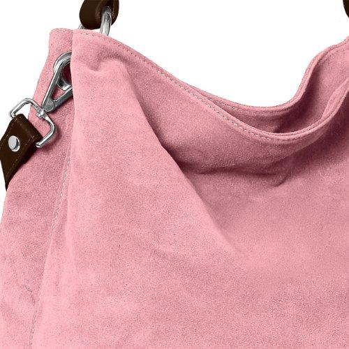 Italiano Rosa Bolso CASPAR de Mujer TL580 de Bandolera para Piel Bolso de Mano Ante de OqqUxfp