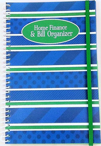 Home Finance amp Bill Organizer with Pockets Blue Stripes