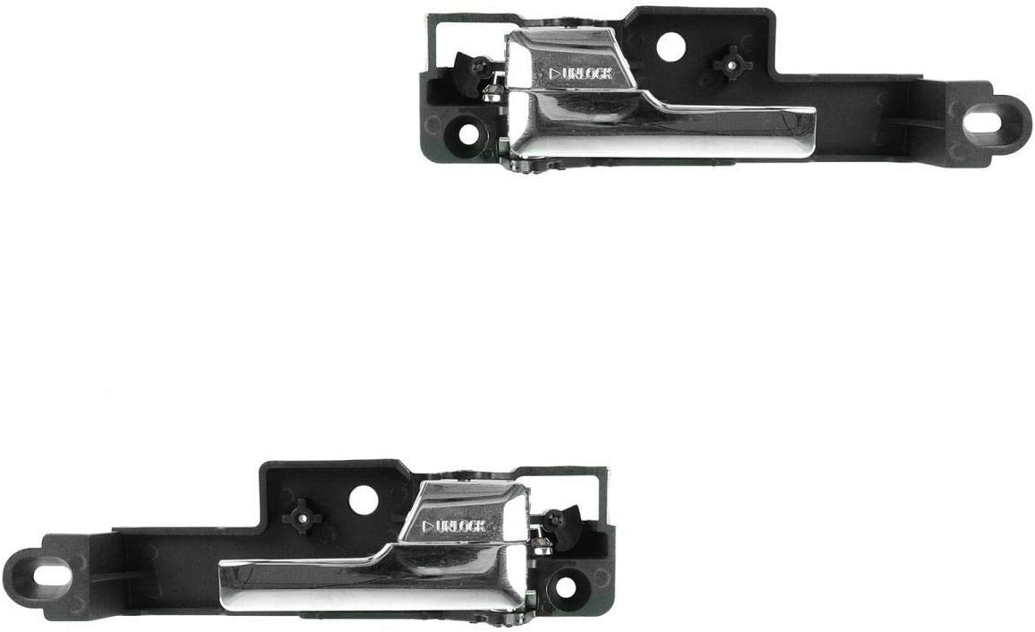 APDTY 92812 Interior Door Handle Front Right Passenger-Side Chrome Fits 2006-2012 Ford Fusion 2007-2012 Lincoln MKZ 2006 Lincoln Zephyr 2006-2011 Mercury Milan Replaces 6E5Z-5422600-AA 6E5Z5422600AA by APDTY