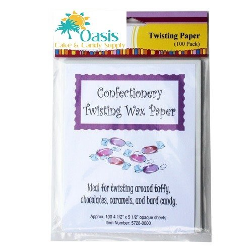 Oasis Supply Lorann Oils 100 Count Twisting Wax Paper LOR TWST-100
