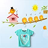Katoot@ Storage Hooks Hanger Wall Stickers DIY Cute Cartoon Bird Train Ballon Home Self Adhesive
