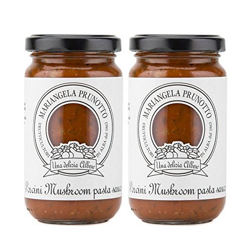 Mariangela Prunotto - Italian Porcini Mushroom Pasta Sauce 7.5oz (215g) - Pack of 2 ()