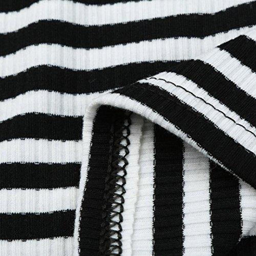 Sexyville Casual Chemisier Femmes Camisole T Shirt Noir Ray Gilet Tops Sans Et Dbardeur Impression Manches UqrwCEU