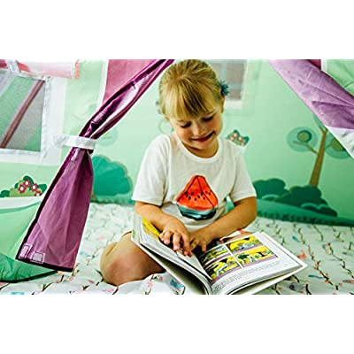 Pacific Play Tents 19600 Kids Cottage Bed Tent Playhouse - Twin Size: Toys & Games