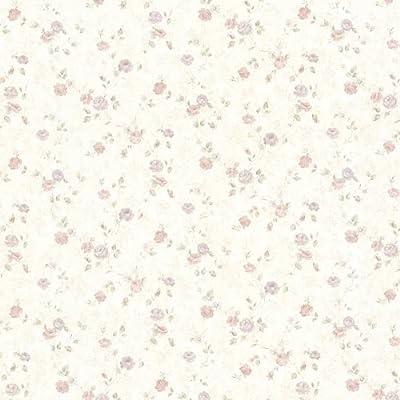 Mirage Alex Delicate Satin Floral Trail Wallpaper
