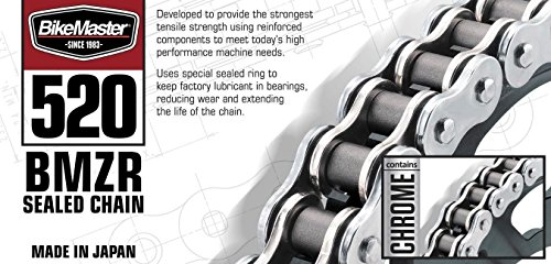 BikeMaster 520 X1 20 BMZR Z-Ring Chain Black/Chrome by BikeMaster