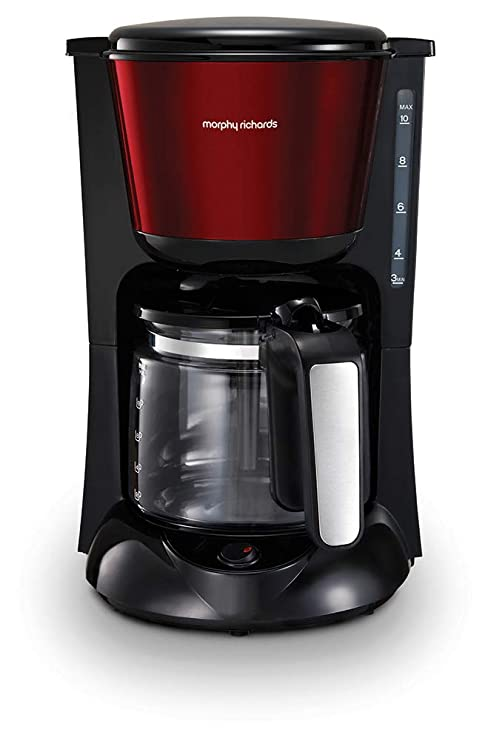 Morphy Richards Filter Kaffeemaschine Timer Thermoskanne Edelstahl// gebürstet