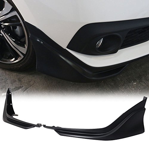Front Bumper Lip Spoiler Fits 2016-2018 Honda Civic | Modulo Style Black PP Front Bumper Lip Spoiler Bodykit Splitter Diffuser Air Dam Chin Diffuser by IKON MOTORSPORTS | 2017