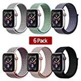 IYOU Sport Watch Band Compatible with Apple Watch 38mm 40mm 42mm 44mm, Lightweight...