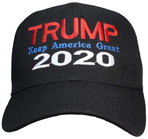 16a287d56b1f Tropic Hats Adult Embroidered Trump 2020 Keep America Great Adjustable Cap  - Black