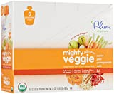 Plum Organics Tots Mighty Veggie Purees-Carrot, Pear, Pomegranate Oats-4 Ounces-12 Pack